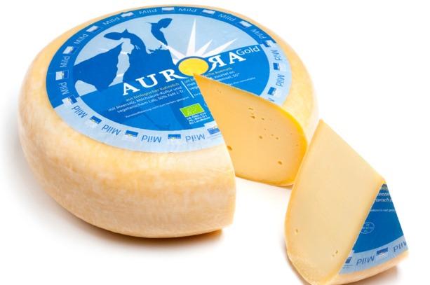 Aurora  kaas Gold mild hele ronde kaas a. 4.5 kilo prijs p kilo