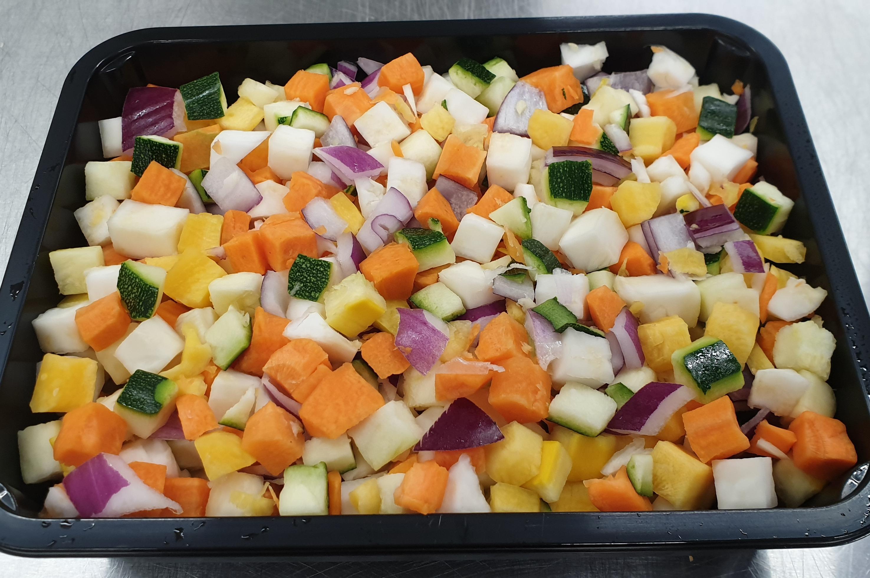 Blok groente mix  10 mm